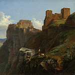 Louise-Josephine Sarazin de Belmont - View of the Castello di San Giuliano, near Trapani, Sicily, National Gallery of Art (Washington)