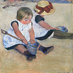 Mary Cassatt - Children Playing on the Beach, National Gallery of Art (Washington)
