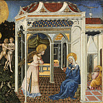 Giovanni di Paolo - The Annunciation and Expulsion from Paradise, National Gallery of Art (Washington)