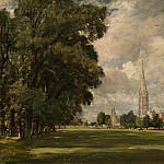 National Gallery of Art (Washington) - John Constable - Salisbury Cathedral from Lower Marsh Close
