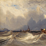 Eugene Isabey – Fishing Boats Tossed before a Storm, National Gallery of Art (Washington)