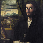 Cariani - Portrait of a Man with a Dog, National Gallery of Art (Washington)