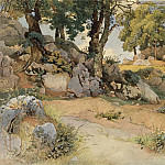 National Gallery of Art (Washington) - Victor Paul Mohn - Rocks and Oaks in the Serpentara