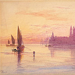 Edward Lear - Venetian Fantasy with Santa Maria della Salute and the Dogana on an Island, National Gallery of Art (Washington)