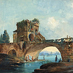 French 18th Century after Hubert Robert – The Ponte Salario with Laundresses, National Gallery of Art (Washington)