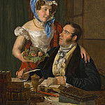 Ferdinand Georg Waldmuller - The Cartographer Professor Josef Juttner and His Wife, National Gallery of Art (Washington)