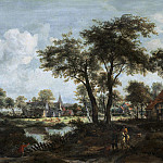 Meindert Hobbema - Village near a Pool, National Gallery of Art (Washington)