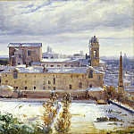 Andre Giroux - Santa Trinita dei Monti in the Snow, National Gallery of Art (Washington)