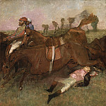 Scene from the Steeplechase: The Fallen Jockey, Edgar Degas