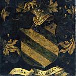 Probably Antwerp 16th Century – Crested Coat of Arms [reverse], National Gallery of Art (Washington)