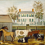 Amzi Emmons Zeliff - The Barnyard, National Gallery of Art (Washington)