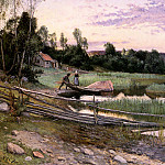 Hjelm Axel Olaf Frederick Down To The Water, Swedish artist