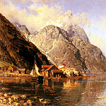 Askevold Anders Monsen Village On A Fjord, Swedish artist