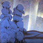 Lindh Bror Northern Lights, Swedish artist