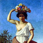 Jernberg August A Pompeiian Beauty Carrying Fruit, Swedish artist