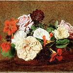 Fantin-Latour, Henri – Roses and Nasturtiums in a Vase, part 14 Hermitage