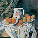 Still Life with a Curtain, Paul Cezanne