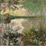 Pond at Montgeron, Claude Oscar Monet
