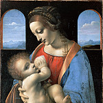 part 14 Hermitage - Leonardo da Vinci - The Madonna and Child (The Litta Madonna)