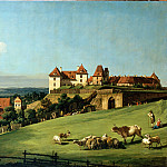 Bellotto, Bernardo – View of Pirna from the Sonnenstein Castle, part 14 Hermitage
