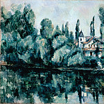 part 14 Hermitage - Cezanne, Paul - The Banks of the Marne (Villa on the Bank of a River)