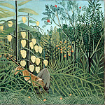 In a Tropical Forest. Struggle between Tiger and Bull, Henri Rousseau