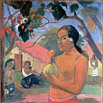 Woman Holding a Fruit (), Paul Gauguin