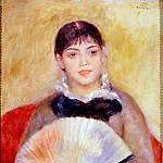 Girl with a Fan, Pierre-Auguste Renoir