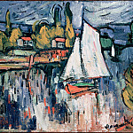 part 14 Hermitage - Vlaminck, Maurice de - View of the Siene