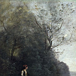 Jean-Baptiste Camille Corot – Peasant Girl Grazing a Cow at the Forest, part 14 Hermitage