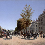 part 14 Hermitage - Edmond-Georges Grandjean (1844–1908) - View of the Champs-Élysées from the Place de l'Étoile in Paris