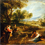 Rubens, Pieter Paul – Landscape with a Rainbow, part 14 Hermitage
