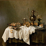 Heda, Willem Claesz – Breakfast with a Lobster, part 14 Hermitage