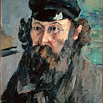 Self-Portrait in a Casquette, Paul Cezanne