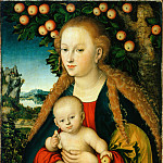part 14 Hermitage - Cranach, Lucas, I - The Virgin and Child Under an Apple Tree