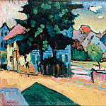 Kandinsky, Vasily – View of Murnau, part 14 Hermitage