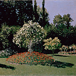 Woman in the Garden. Sainte-Adresse, Claude Oscar Monet