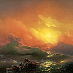 Ilya Repin - Ivan Aivazovsky - The Ninth Wave