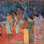 Scene from Tahitian Life, Paul Gauguin