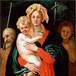 part 14 Hermitage - Pontormo, Jacopo da - The Virgin and Child with St Joseph and John the Baptist