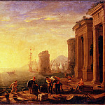 Morning in the Harbour, Claude Lorrain