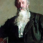 900 Classic russian paintings - Portrait of Vladimir Stasov. 1883