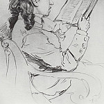 Portrait EG Mamontova reading. 1879, Ilya Repin