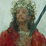 Jesus in a crown of thorns. 1913, Ilya Repin