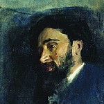 Portrait of the writer VM Garshin. 1883, Ilya Repin