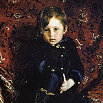 Portrait of Yuri Repin, the Artists Son, in childhood. 1882, Ilya Repin