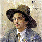 Ilya Repin - Portrait of the Artist I. Brodsky. 1913