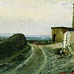 Ilya Repin - Road to Montmartre in Paris. 1875-1876