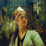 Ilya Repin - woman with a dagger. 1870