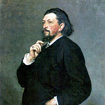 Ilya Repin - Portrait of a musical figure MP Belyaev. 1886